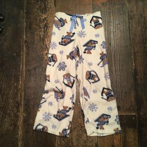 [USED]くまさんの雪あそび パジャマパンツ