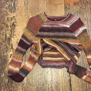 [USED] 秋色Short Knit Tops