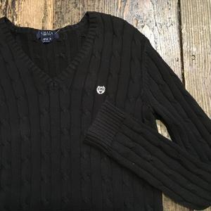 [USED] COTTON100% シンプルVネックセーター