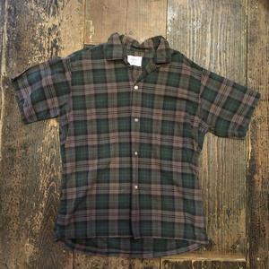 [USED] open collar ♡ チェックshirt