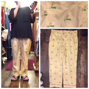 [USED] LOVE 刺繍 パンツ