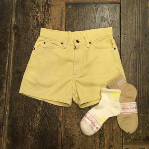 [USED] 70's Levi's  Pastel Yellow Corduroy Shorts