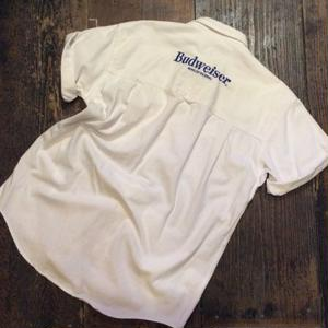 "[USED] ""BUD"" WHITE DENIM SHIRTS"