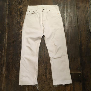 [USED]  Levis 501 WHITE cutoff Denim