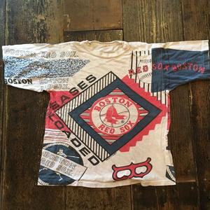 [USED]全面プリント‼︎REDSOX  vintageTシャツ