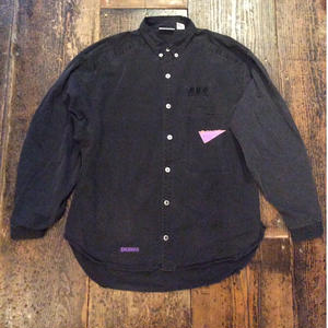 [USED] 80~90's Black  Cottonシャツ
