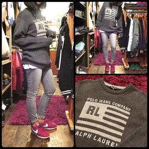 [USED]RALPH LAUREN cottonセーター