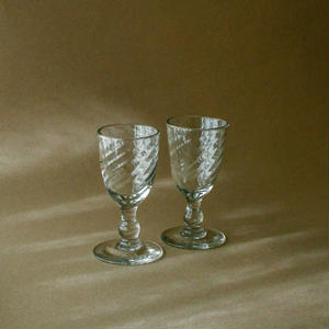 Hand-blown liquer glass cup*