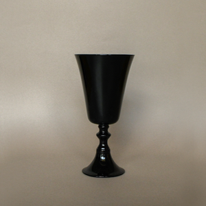 Black glass goblet