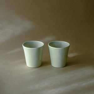 Beautiful white pottery cup*