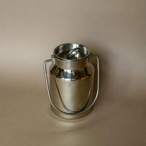 Stainless steel milk jar