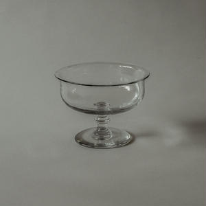 Hand-blown glass compote