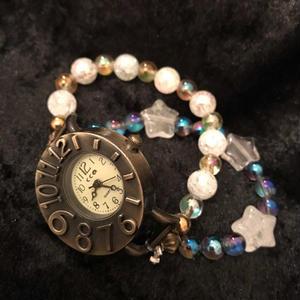 【送料無料】宇宙につながりひらめきを与えるパワーストーン腕時計