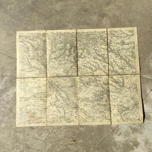 チェコの古い布張り地図 MELNIK