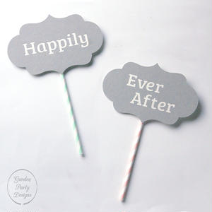 Happily Ever After PHOTO PROPS * BLUE GRAY