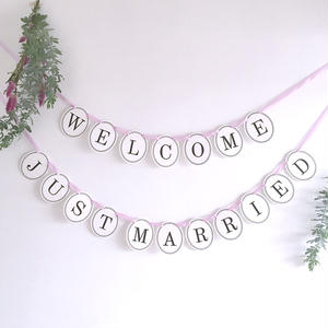 【2点セット】 WELCOME・JUST MARRIED  * Garland