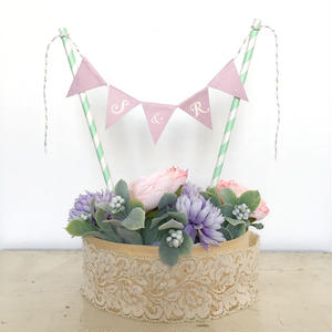 Initial  Cake Bunting * Purple * S