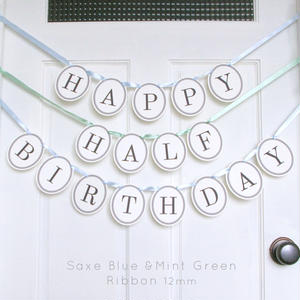 【おなまえ無料】HAPPY HALF/1ST BIRTHDAY * Garland