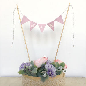 Initial  Cake Bunting *Purple* Long
