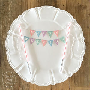 HAPPY WEDDING  Cake Bunting *S