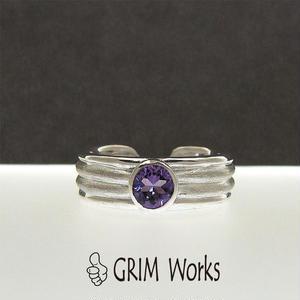 GRIM Works1点物 SV・アメシスト・フリーサイズリング