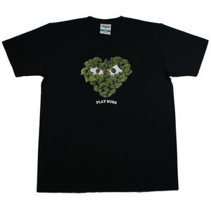 "RUGGED green label ""PLAY BUDS 2""tee(Black)"