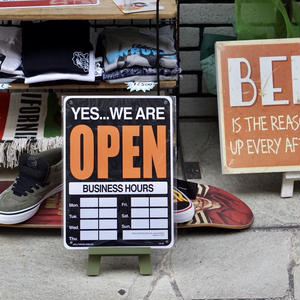 OPEN/CLOSED   サインボード