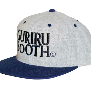 "GURIRUBOOTH© ""LOGO"" snap back (Gray x Navy)"