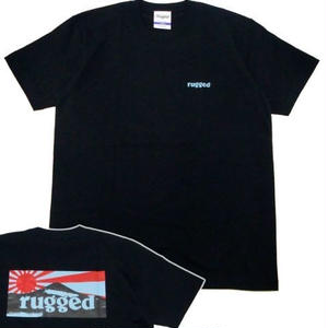 "RUGGED ""RISING SUN"" tee(Black×Navy)"