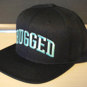 "RUGGED ""Arch logo"" Snap back (Black×Aqua)"
