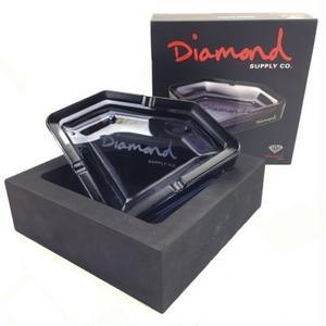 DIAMOND ASHTRAY / SMOKE BLACK