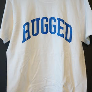 "RUGGED ""ARCH logo"" tee(White×Blue)"