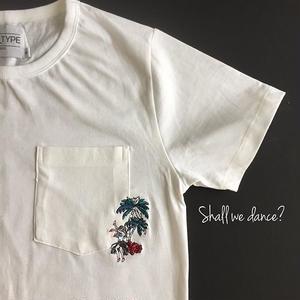 フラガール刺繍 Tシャツ Aloha! shall we dance?