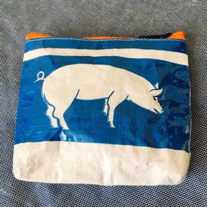 Blue Boo  pouch