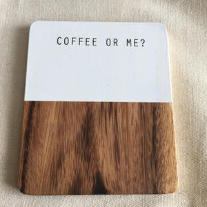木製コースター Coffee or Me??