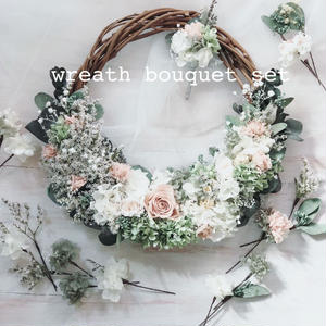 wreath bouquet set(オーダーメイド リースブーケ セット)