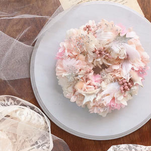 winter wreath *sugar pink*