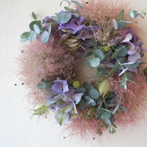 Smoke tree Wreath