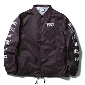 FUCT SSDD MULTI PRINT COACH JACKET BURGUNDY