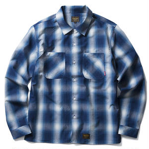 FUCT SSDD OMBRE CHECK SHIRT BLUE