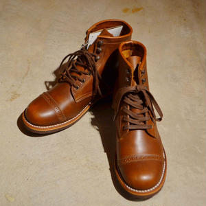 6 CAP TOE LACE UP M'S BROWN[109-02]