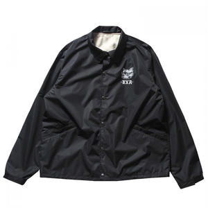 BORN X RAISED BOARDWALK SHARK COACH JACKET BLACK NO.35001