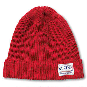 FUCT CO WATCH CAP RED