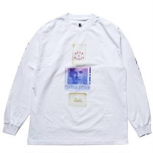 BORN X RAISED  EUGENE L/S TEE WHITE #33501