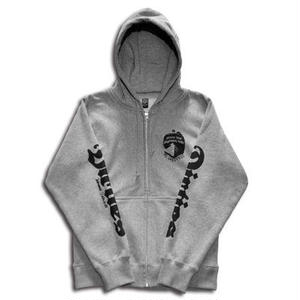 INSIDE ZIP HOOD GRAY