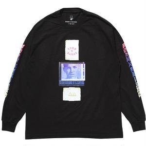 BORN X RAISED  EUGENE L/S TEE BLACK #33501