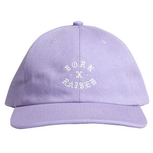BORN X RAISED  ROCKER STRAPBACK LAVENDER #33901