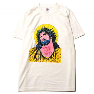 CUTRATE  STYLISH JESUS T-SHIRT WHITE CR18SS046