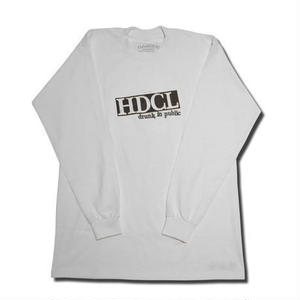 HARDEE IN PUBLIC L/S T-SHIRT WHITE