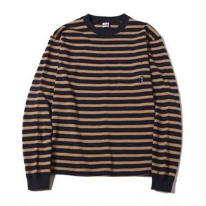 CUT RATE L/S BORDER T-SHIRT NAVY CR-16AW017